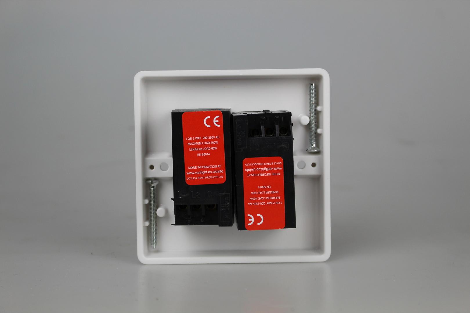 Varilight Product Data Sheet Hq83w Wiring Instructions Durable White Plastic