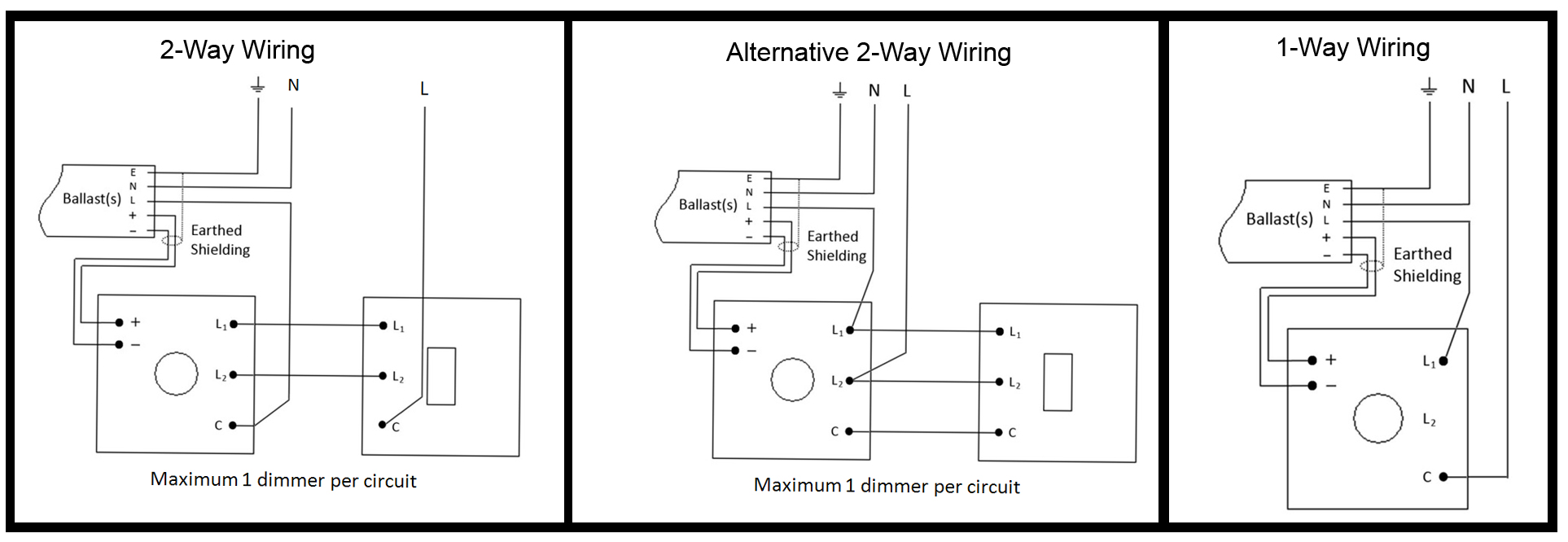 2 Way Dimmer Switch Wiring Diagram from www.varilight.co.uk