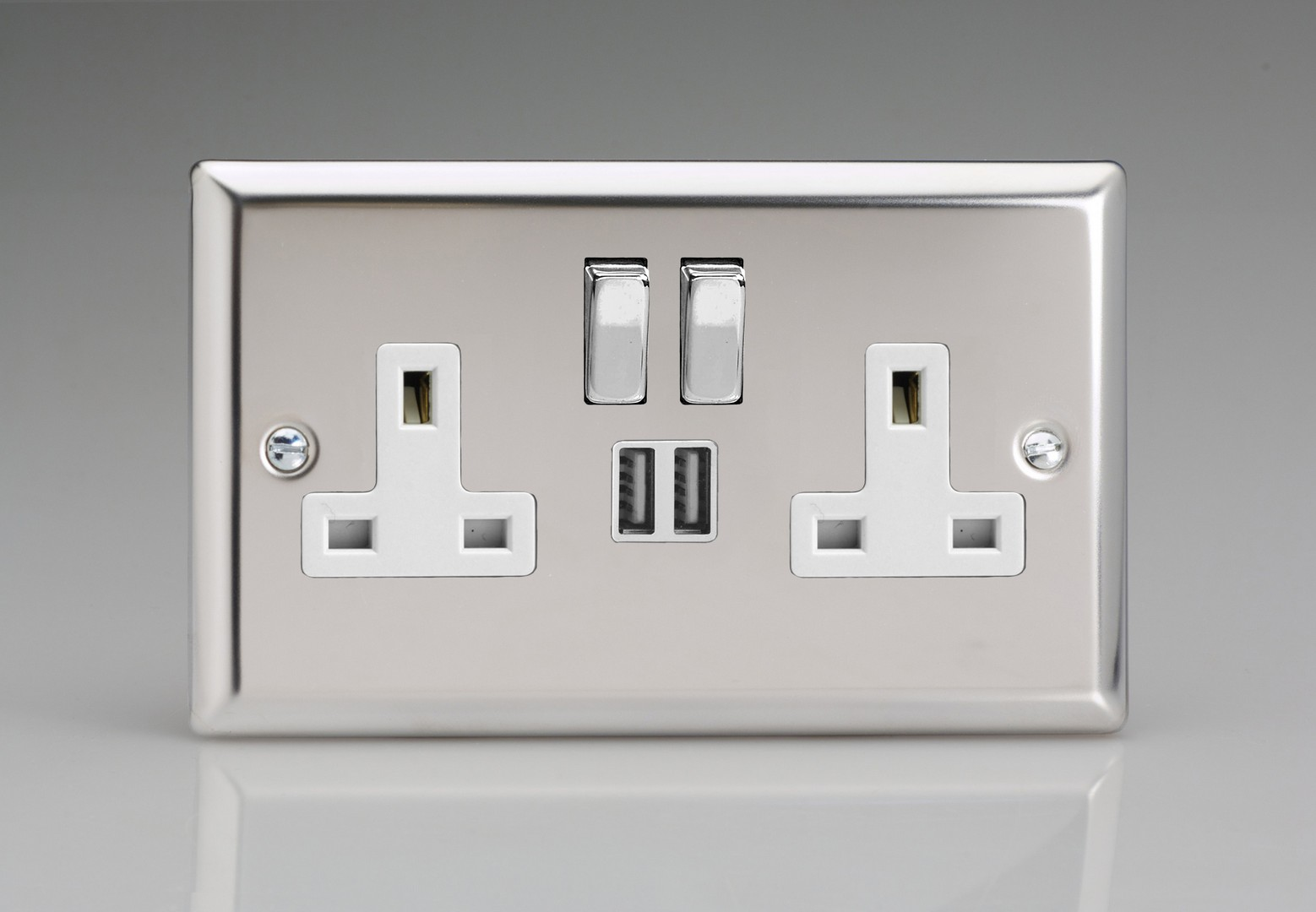 Varilight V Dim Dimmer Series For Incandescent Lighting 2 Way Switch Double Pole 13a Socket Usb