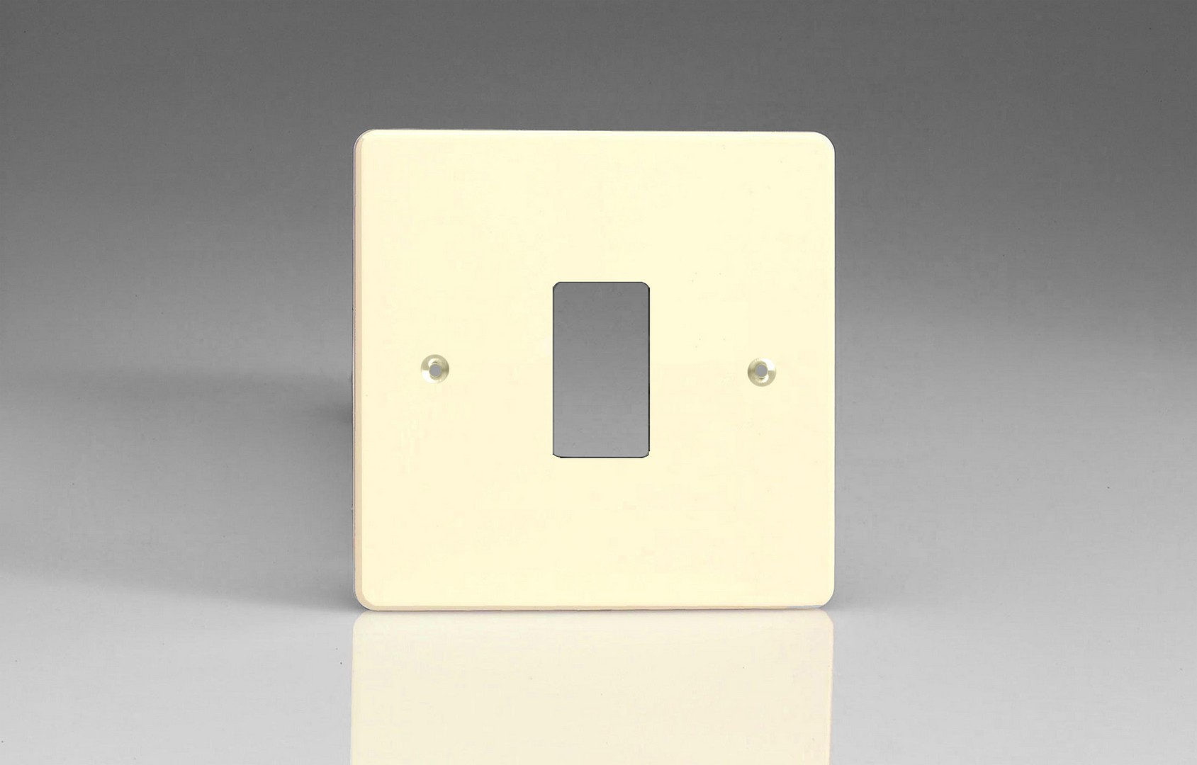 Varilight Powergrid Collection Two Way Switch Gang White Chocolate Plate