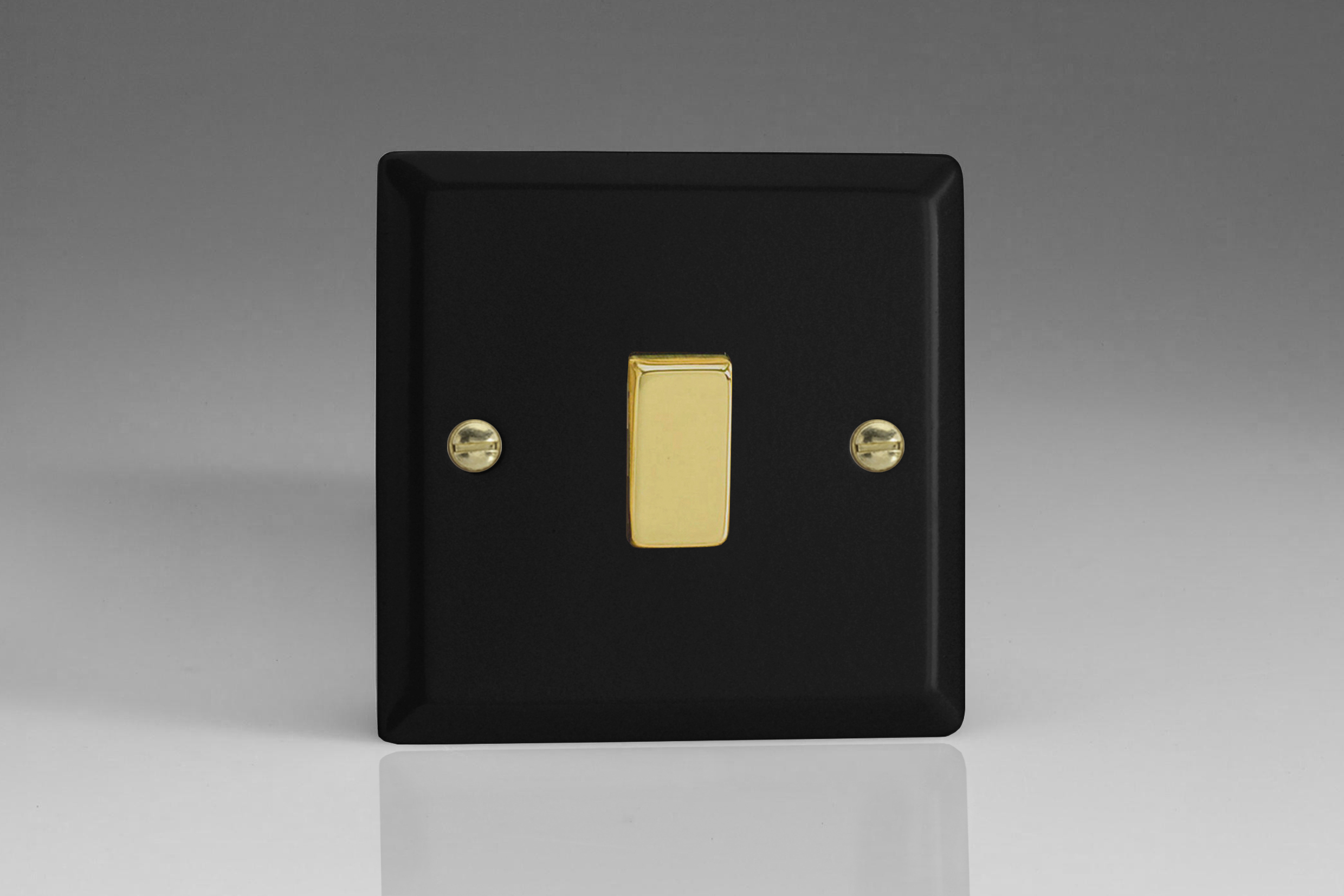 Vogue Matt Black with Brass