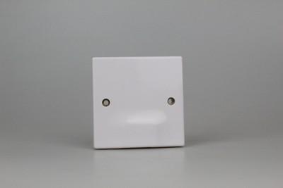 Varilight XOSB Value Polar White 1 Gang Single Blank Plate
