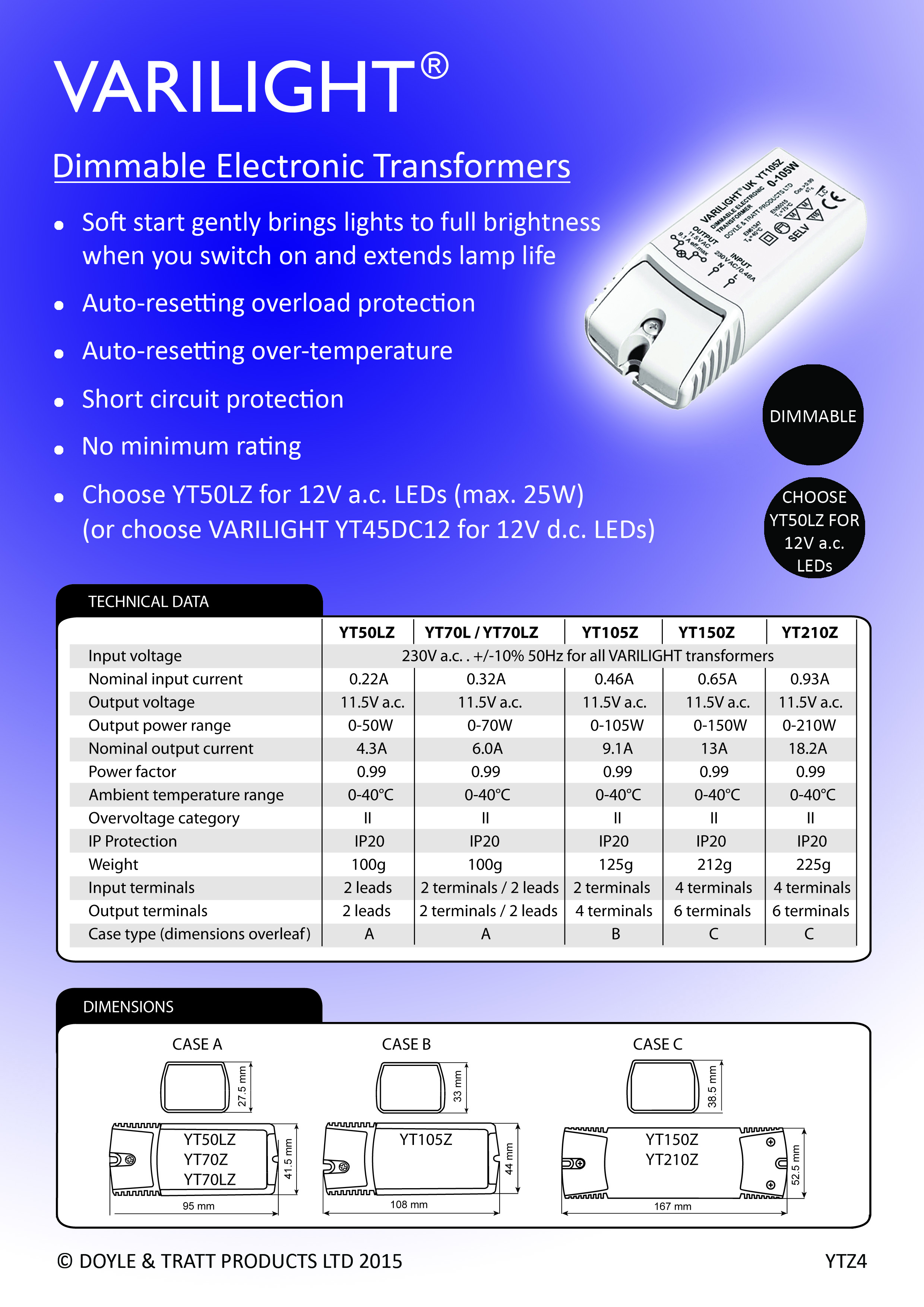 Varilight Dimmable Transformers